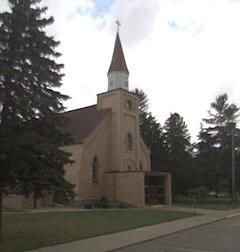 Die Kirche im US-amerikanischen Pendent zu Flensburg in Minnesota (Google Street View)