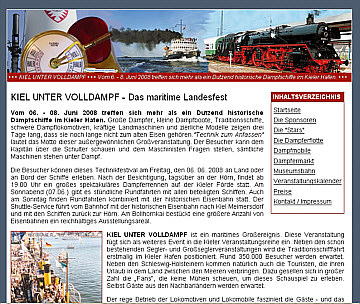 Kiel unter Voll-Dampf